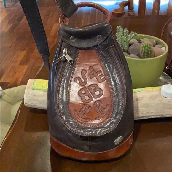 Vintage American west hand tooled bag